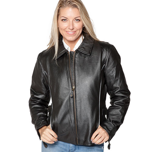 'Ladies Leather Motorcycle Jacket'