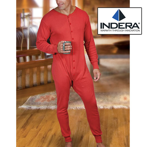 'Indera Mills Red Union Suit'