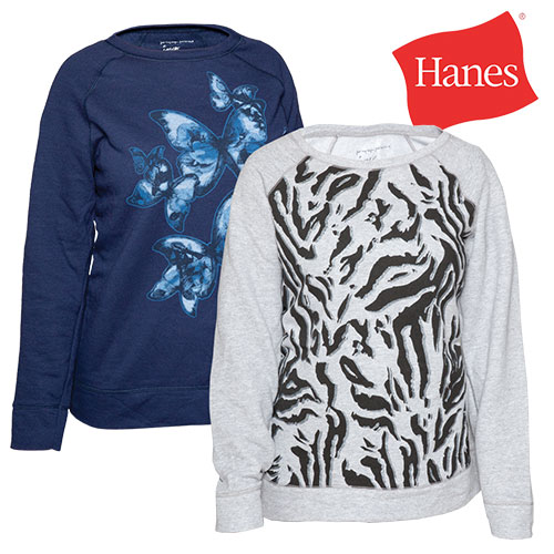 'Hanes Womens Print Sweatshirts - 2 Pack'