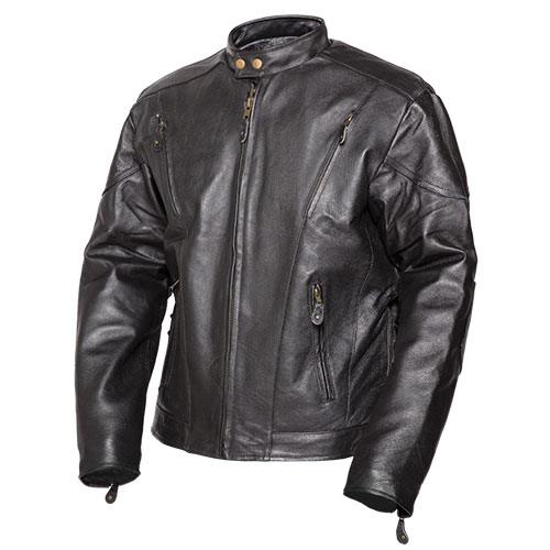 'Leather Racer Jacket'