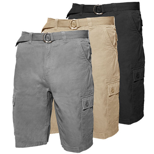 3 Pack Cargo Shorts