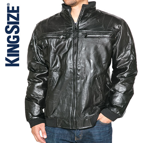 'Men's Leather Bomber Jacket'