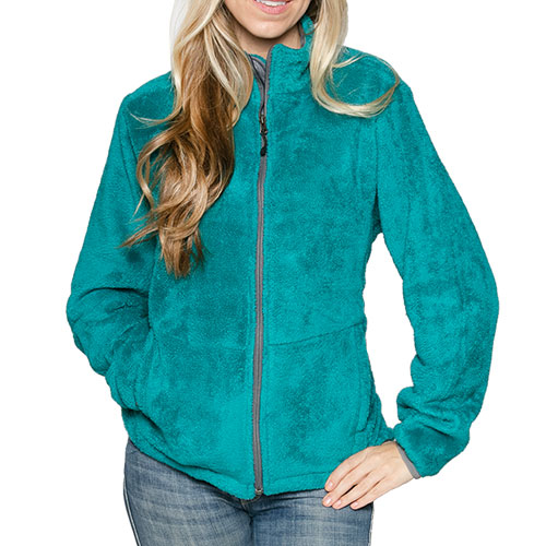 'Micro Chenille Jacket - Teal'
