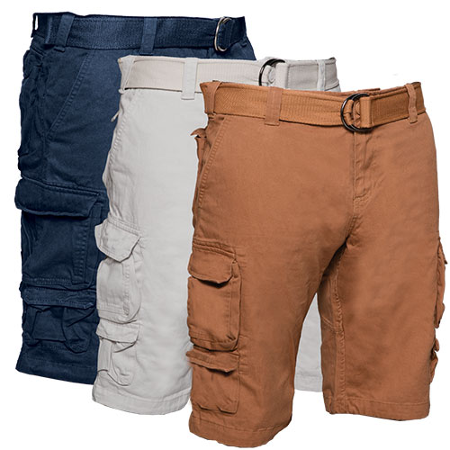 Gray Earth Cargo Shorts - 3 Pack