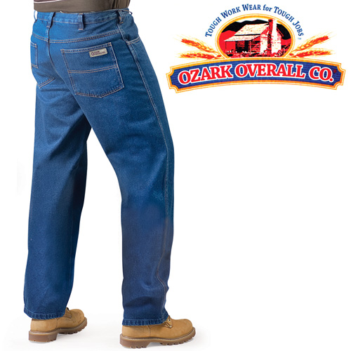 For kickin' around town or bustin' butt on the work site, these jeans provide the comfort and durability you want. The heavy weight 100% cotton denim is stone washed so they're soft and comfortable right from the start. Also features zipper and single button fly and a wider leg that fits easily over boots. Buy 2 pair of the same size and save! Mens 30 waist - 30 length.
