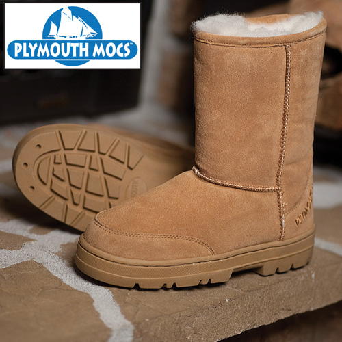 Heartland America: Plymouth Mocs Mens Boot Slippers
