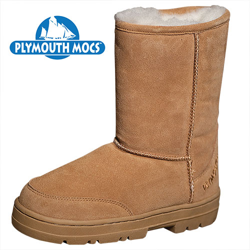 'Plymouth Mocs Womens Boot Slippers'