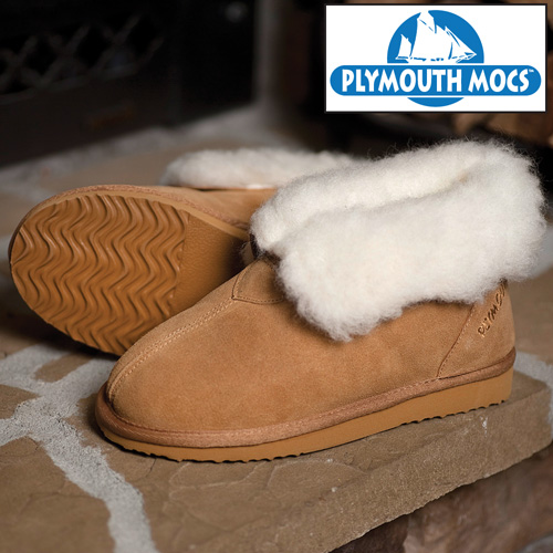 Plymouth Mocs Mens Ankle Boot Slippers