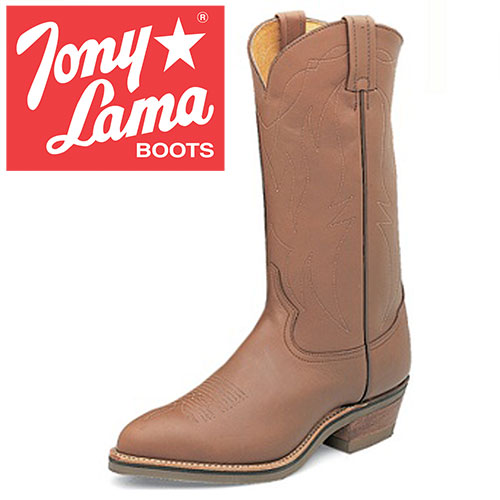 'Tony Lama Natural Retan Boots'