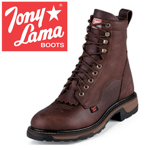 'Tony Lama Briar Lace-Up Boots'