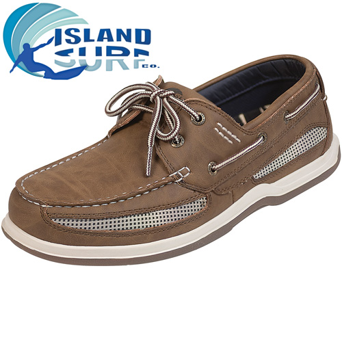 'Island Surf Dark Brown Cod Shoes'