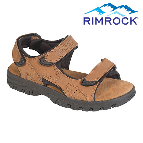 'Brown Leather Strap Sandal'