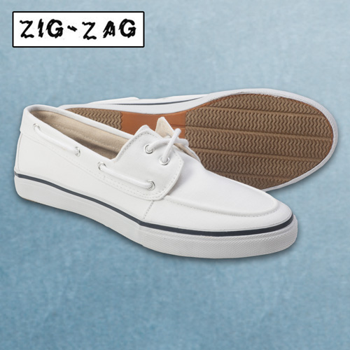 White Canvas Boat Shoe Item No.WW22-98885F Overall Customer Rating: (0
