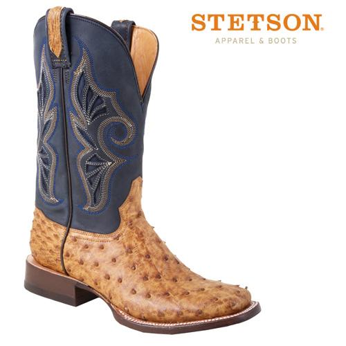 'Stetson Full Quill Ostrich Boots'