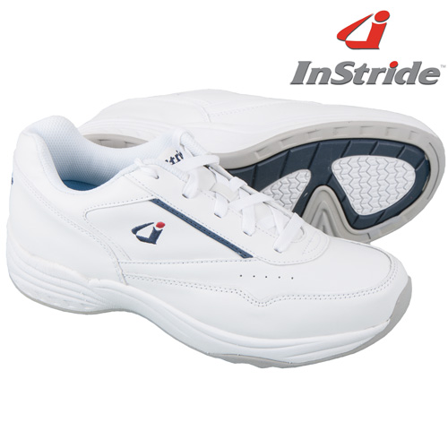 'InStride Leather Lace Shoes - White'