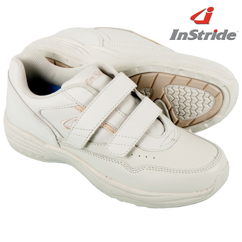'InStride Womens Leather Strap Shoes - White'