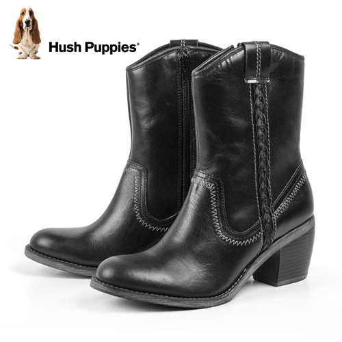 'Hush Puppies Waterproof Boots - Black'