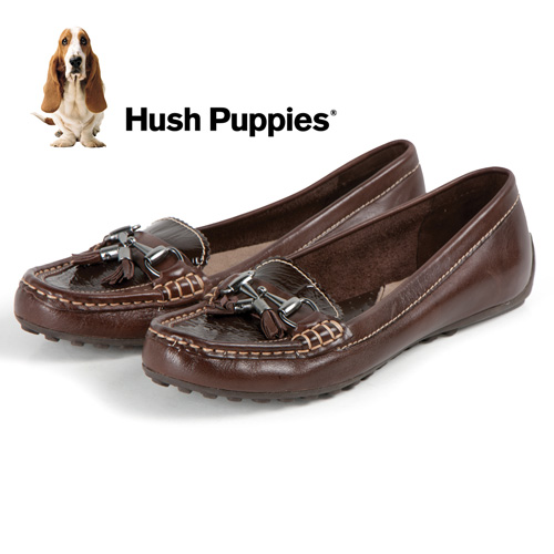 'Hush Puppies Dalby Slip-Ons - Brown'