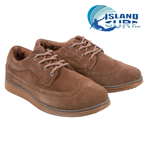 'Island Surf Cuddy Wingtips - Tan'