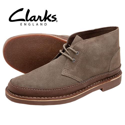 'Taupe Clarks Bushacre Chukkas'