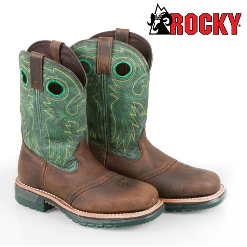 'Rocky Steel Toe Western Boots'