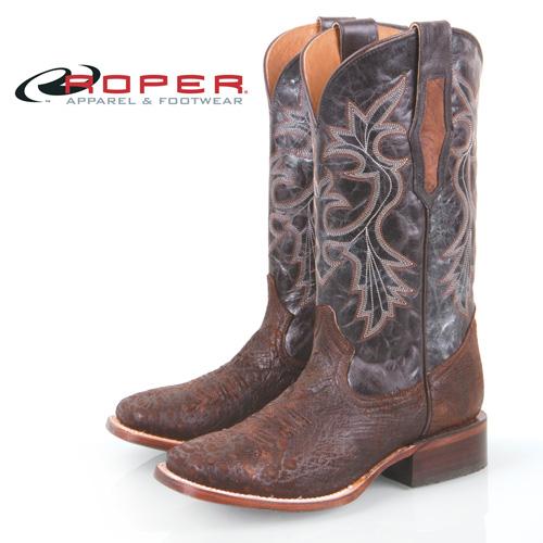 'Roper Ostrich Skin Boots'
