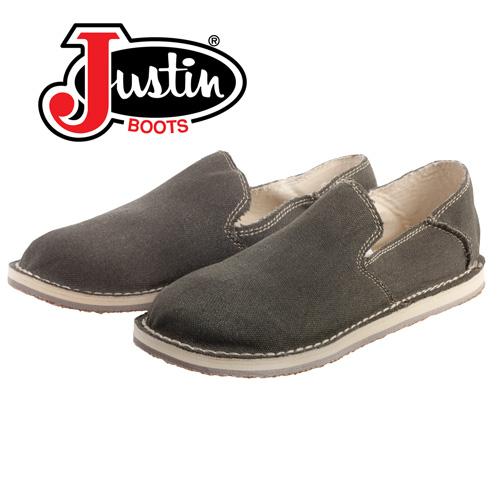 Justin Canvas Slip-On Shoes - Olive