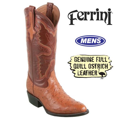 'Ferrini Ostrich Boots'