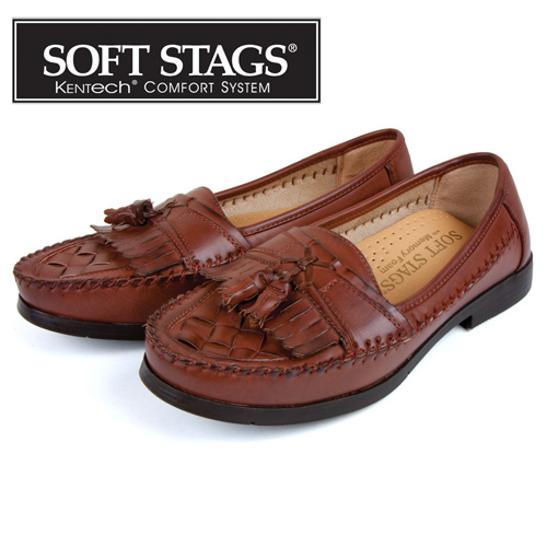 Soft Stags Tassel Loafers - Dark Maple