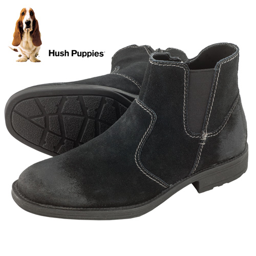 'Hush Puppies Chukka Boots - Black'