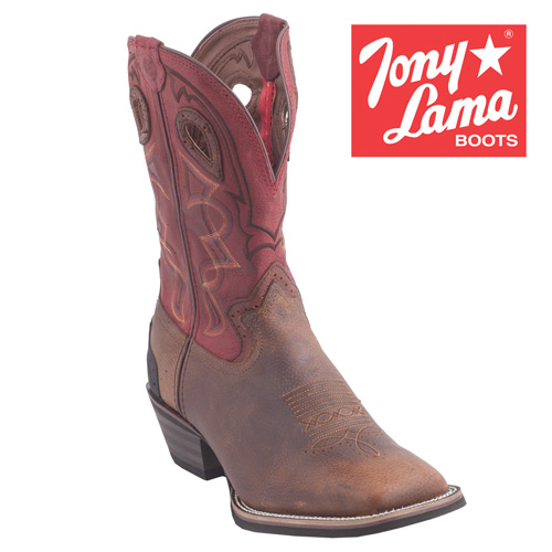 Tony Lama Walnut Blaze Boots