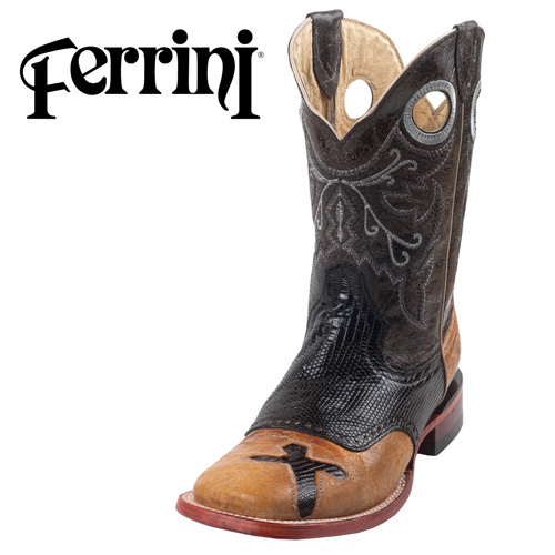 'Ferrini Cross Lizard Boots'