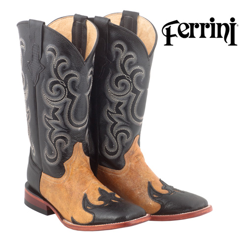 'Ferrini Lizard Wingtip Mens Western Boots'