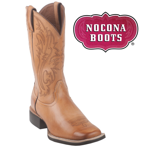 'Nocona Saddle Western Boots - Tan'
