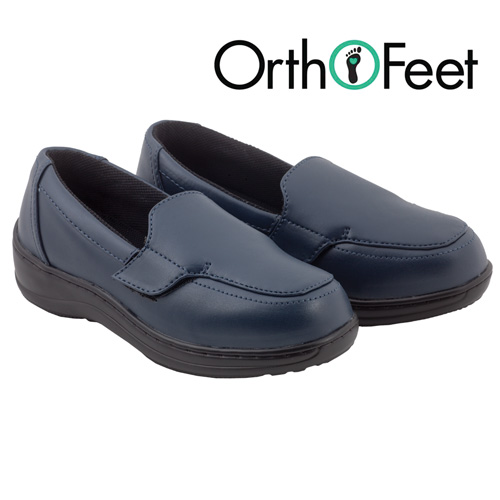 'Womens Navy Astoria Loafers'