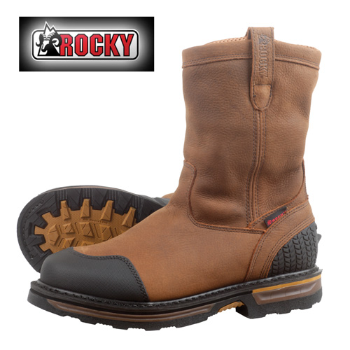 'Rocky Steel Toe Puncture Resistant Work Boots'