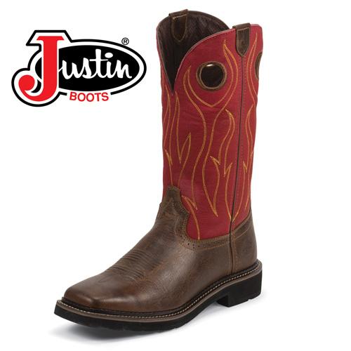 'Justin Rustic Barnwood Boots'