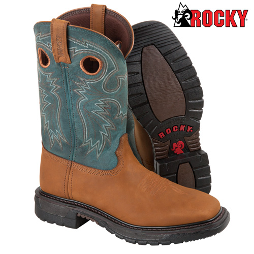 'Blue Rocky Western Boots'