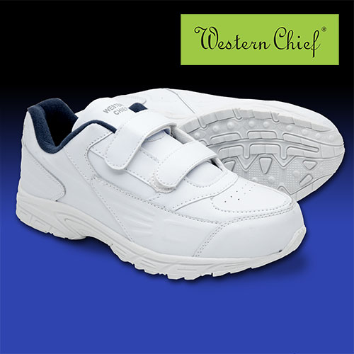 White Western Chief Strap Athletic Shoes