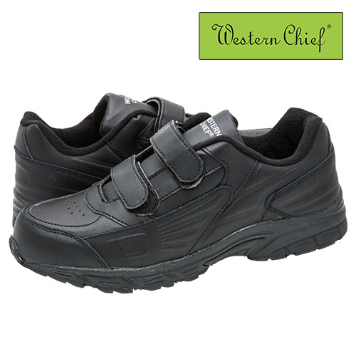 'Black Western Chief Strap Athletic Shoes'