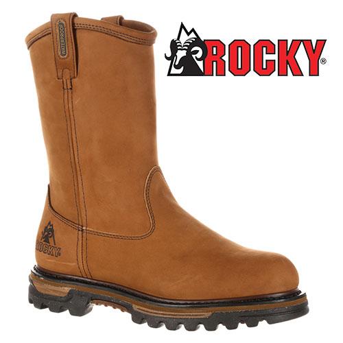 'Rocky Wellington Pull-on Boots'