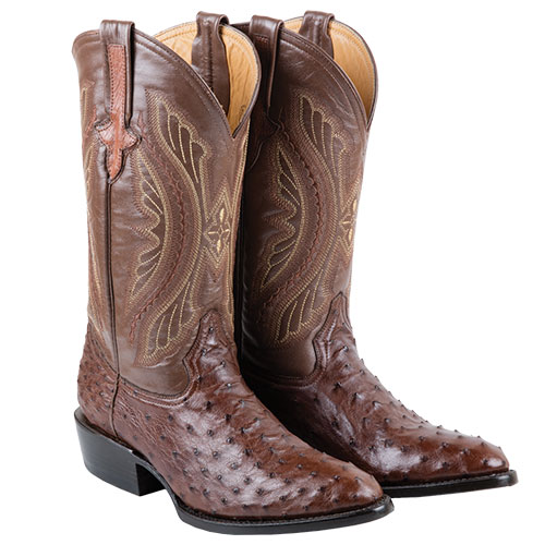 'Ferrini Full Quill Ostritch Boot'