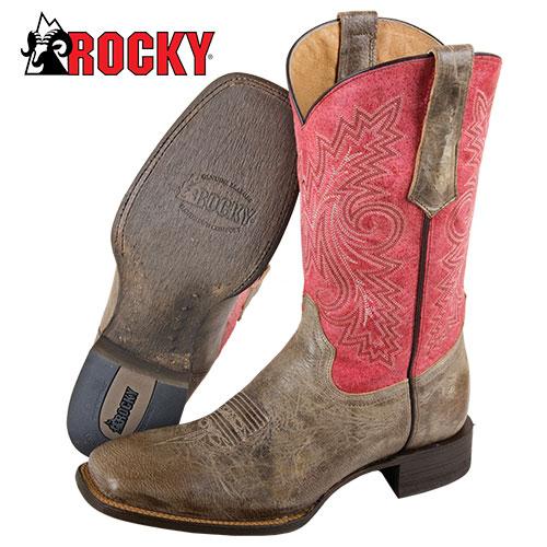 Rocky Handhewn Western Boot