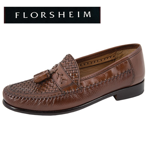 'Swivel Weave Tassel Loafers'
