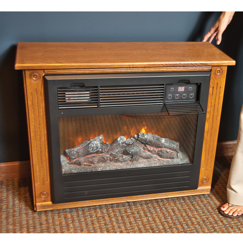 'Cherry Electric Infrared Fireplace'