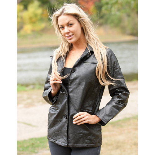 'Womens Leather Patch Jacket'