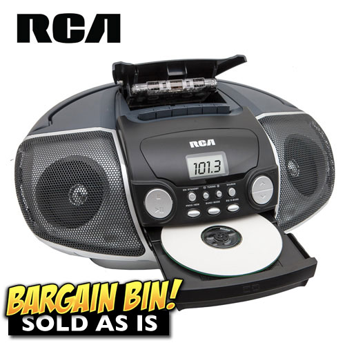 'Open Box RCA Portable CD Boombox'