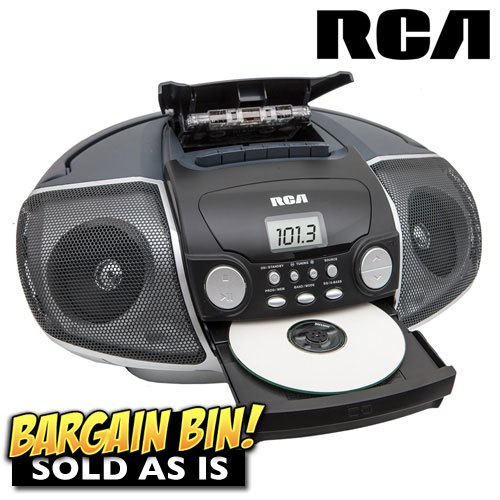 'Open Box RCA Portable CD/Casette Player'