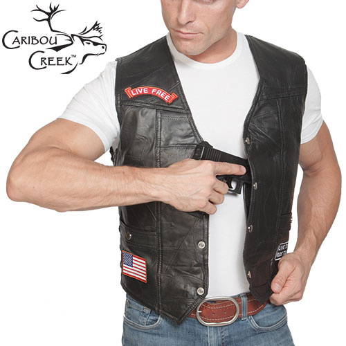 Open Box Lambskin Concealment Vest
