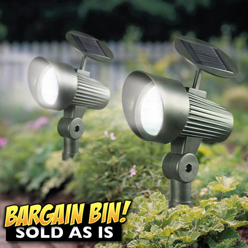 Open Box 2 Pack Solar Accent Lights